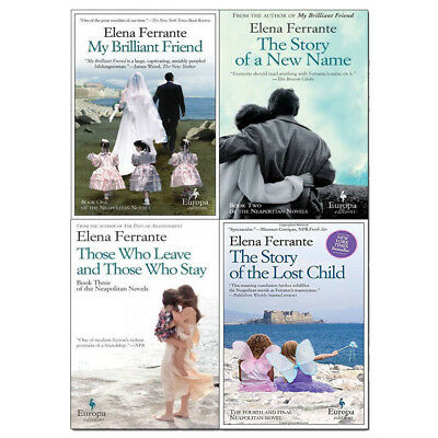 My Brilliant Friend Series Elena Ferrante 4 Books Collection Set Story of a New