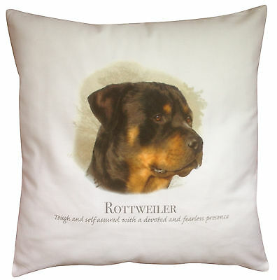 Rottweiler Dog   100% Cotton Cushion Cover with Zip   Howard Robinson   Gift