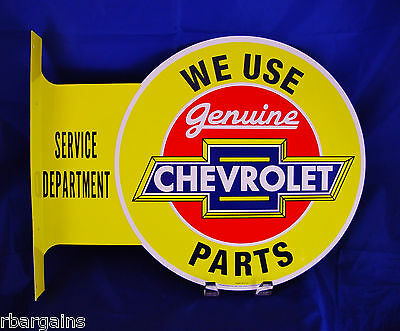 Chevrolet Chevy Parts Flange Metal Tin Sign Large Vintage Style Garage Man Cave