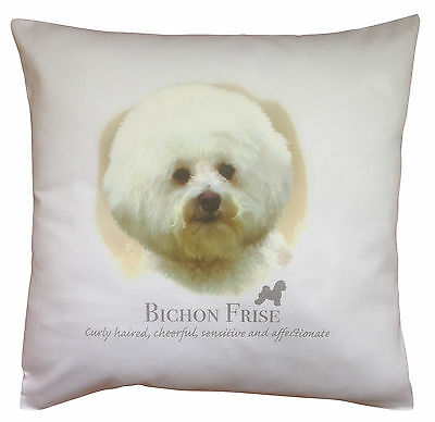 Bichon Frise Dog   100% Cotton Cushion Cover with Zip   Howard Robinson   Gift