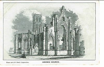 Howden Church From Steel Engraving Publisher Goole Times 1900's