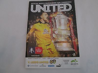 2016-17 FA CUP 3RD ROUND CAMBRIDGE UNITED v LEEDS UNITED ( SELL-OUT )