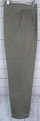 Retro  Pleated Cotton Levis Dockers Peg Trousers 80s does 50s W27 DQ84