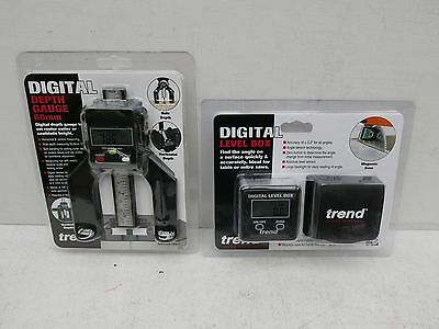 Trend Digital Set Level Box Angle Finder Dlb + D60 60Mm Digital Depth Gauge