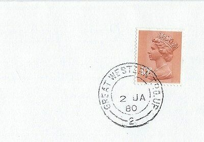 "TPO,ENVELOPES CARRIED on ""GREAT WESTERN"" T.P.O UP (2)1980 T.P.O DOWN (2) 1997"