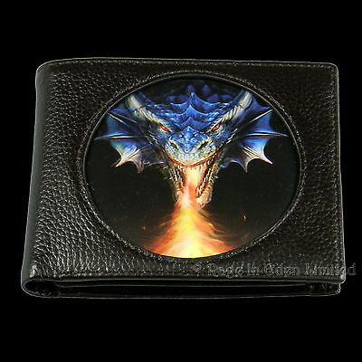 *FIRE BREATHER* Anne Stokes Age Of Dragons Fantasy Art 3D Black Wallet (12x10cm)