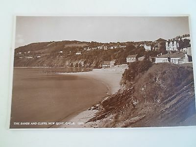 Vintage Real Photo Postcard The Sands+Cliffs New Quays, Cards 12675