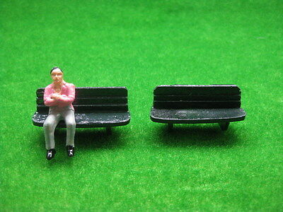 YZ4301 10pcs Model Railway Layout 1:43 Bench Chairs O Scale NEW