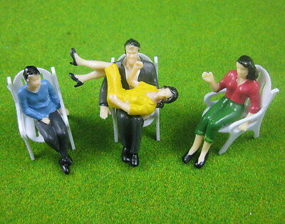P2503 16pcs all Seated 1:25 Painted Figures Passenger G Scale