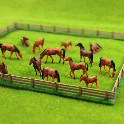 AN8702 30pcs 1:87 Well Painted Farm Animals Horses HO Scale