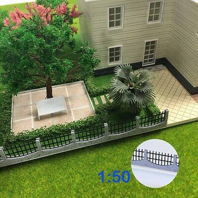 GY47050 3PCS 34.5cm Model Train Railway Building Fence Railing 1:50 O Scale New