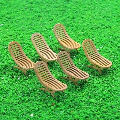 ZY24032 6pcs Model Railway Layout 1:32 Sun Loungers Beach Chairs Settee G Scale
