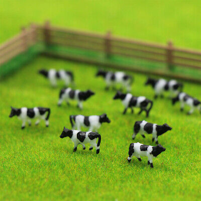 AN15001 60pcs 1:150 Well Painted Farm Animals Cows N Scale