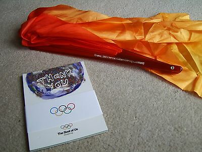 2008 Beijing Olympic Games Closing Ceremony Fan & Pack of Sponsors Postcards