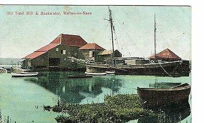 Walton On Naze Old Tidal Mill And Backwater Early 1900's