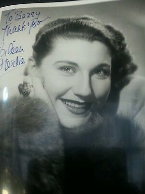 Autograph 10x8 photo signed by Eileen Herlie