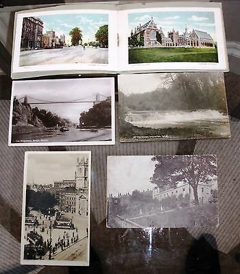 Bristol 4 Old postcards and letter card with 8 views