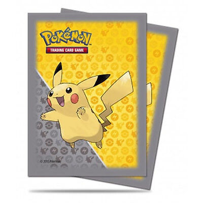 Pokemon - Pikachu Card Sleeves  (Ultra Pro Grey Design ) - Sealed Pack of 65
