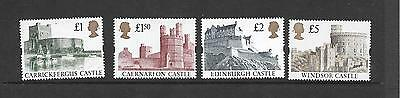 Machin - 1992 Castle high values - £1,£1.50,£2,£5 - unmounted mint