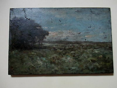 Old Impressionist Style Oil Painting For Restoration
