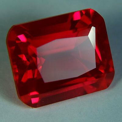 13.40ct.AWESOME BLOOD RED RUBY OCTAGON LOOSE GEMSTONE