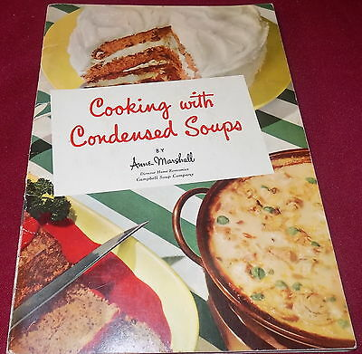 CAMPBELL SOUP Company COOKING WITH CONDENSED SOUPS 2nd Ed. Colour 1950's?