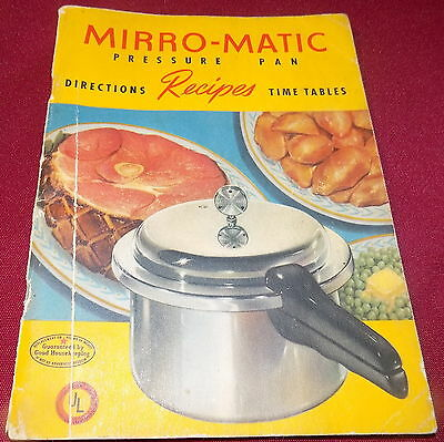 MIRRO-MATIC Vintage 1947 RECIPE & DIRECTION Booklet