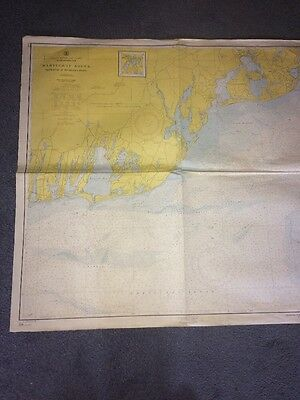 Vintage Map Nantucket Sound Osterville To Green Pond 1960