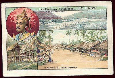 image chromo . les colonies Françaises . le LAOS . bon-point