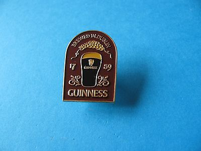 Guinness Brewed In Dublin Pub Sign Pin Badge. VGC. Unused.