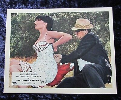 THAT RIVIERA TOUCH lobby card #3 ERIC MORECAMBE, ERNIE WISE mini uk card