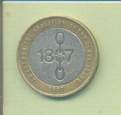 Rare Abolition Of The Slave Trade 1807 -2007 Minting Error Two Pound Coin