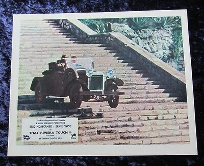 THAT RIVIERA TOUCH lobby card #2 ERIC MORECAMBE, ERNIE WISE mini uk card