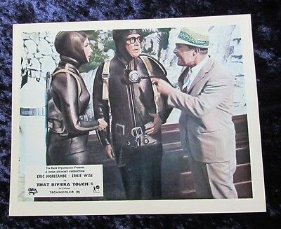 THAT RIVIERA TOUCH lobby card #4 ERIC MORECAMBE, ERNIE WISE mini uk card