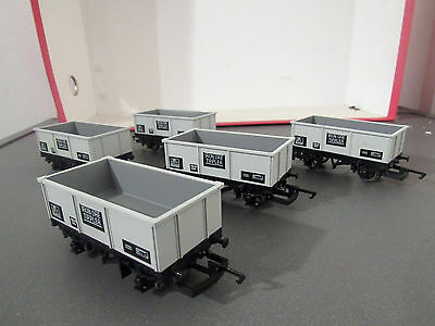 hornby new out of sets x5  4 wheel iron ore tippler mineral wagons