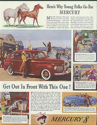 Here's Why Young Folks Go For Mercury Sedan & Convertible ad 1941