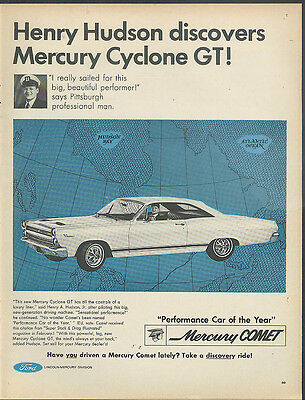 Henry Hudson discovers Mercury Comet Cyclone GT ad 1966