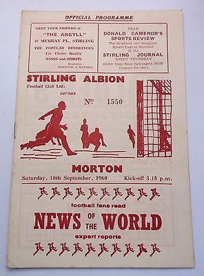 STIRLING ALBION v. MORTON SCOTTISH SECOND DIVISION 1960 ANNFIELD