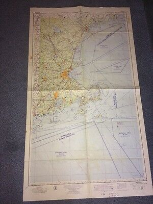 "Boston Sectional Aeronautical Chart 42 X 23""1959"