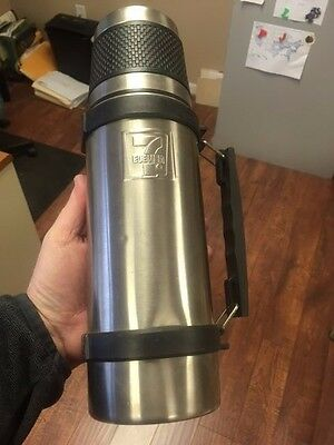 7-11 ELEVEN Stainless Steel Vacuum Thermos Travel Mug HOT or COLD RARE!