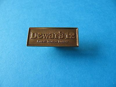 "Scotch Whisky Pin Badge. "" Dewar's 12 "". VGC. Dewars Malt Whiskey. Metal."