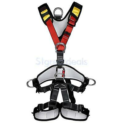 Adjustable Full Body Safety Climbing Sit Harness Rock Mountaineering Gear