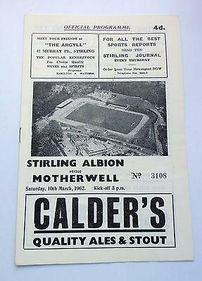 STIRLING ALBION v. MOTHERWELL SCOTTISH CUP 1962 ANNFIELD