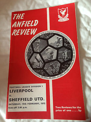 Liverpool V Sheffield United 1971/72