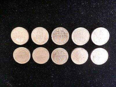 Collection Of Ten One Pound Gibraltar Coins 1994-2002