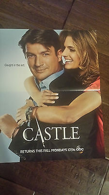 2013 Sdcc Comic Con Marvel Abc Castle Promo Poster Nathan Fillion Stana Katic