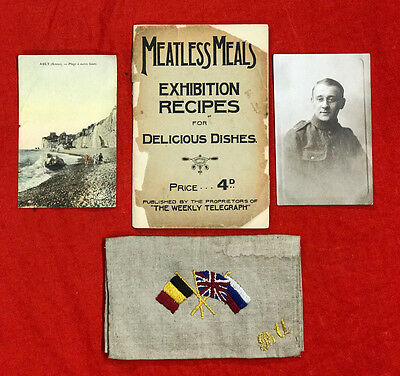 Ww1 'meatless Meals'  Austerity Emergency Cook Book (Exhibition Recipes)