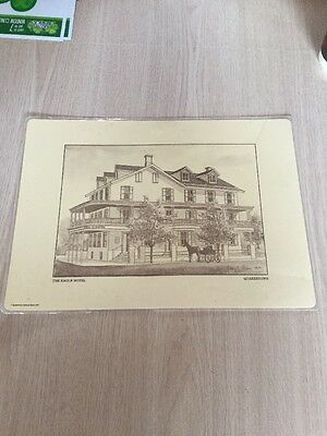 """1979 """" The Hotel Eagle"""" Quakertown Pennsylvania Placemat Bank Giveaway Rare"""