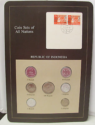 Coin Sets of All Nations Republic of Indonesia 1970-1979 BU