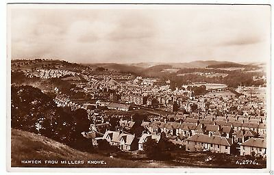 HAWICK FROM  MILLERS  KNOWE - 1947 Real Photo used postcard